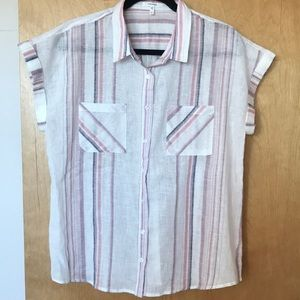 Maurices Linen pastel Striped Shirt